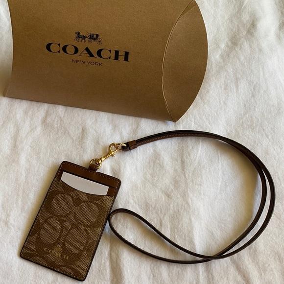 Coach ID holder lanyard